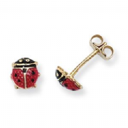 9ct Gold Ladybird Stud Earrings